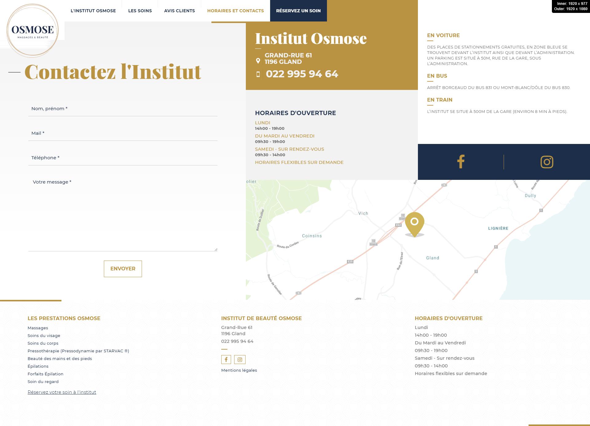 institut osmose beaute kalfeutre webdesigner lyon