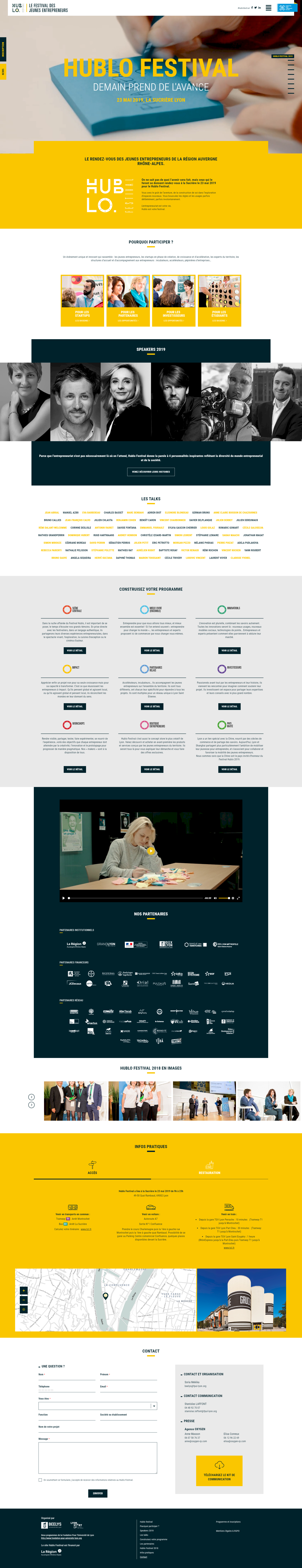 screen hublo festival kalfeutre webdesign lyon