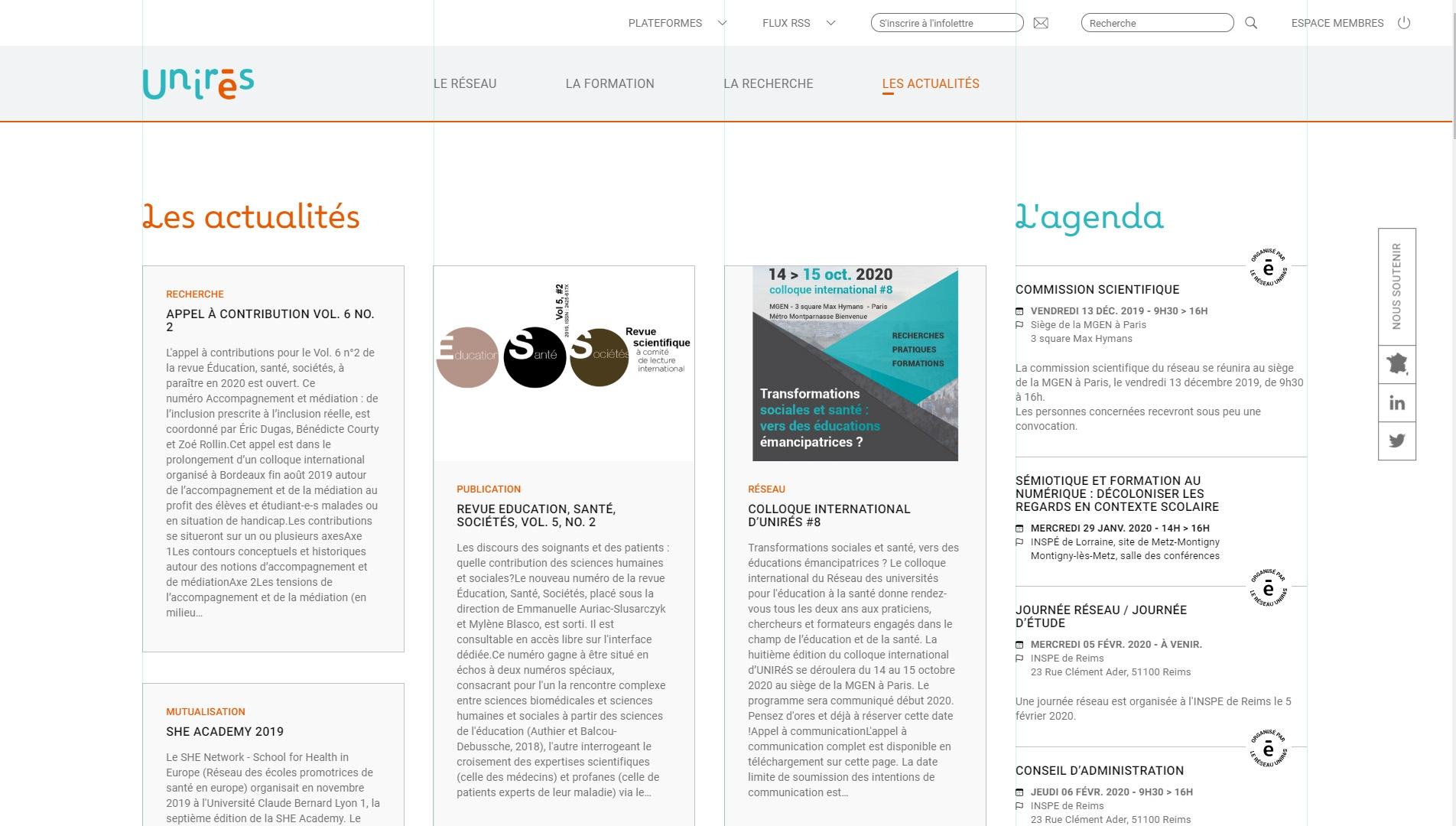 integration site unires edusante kalfeutre