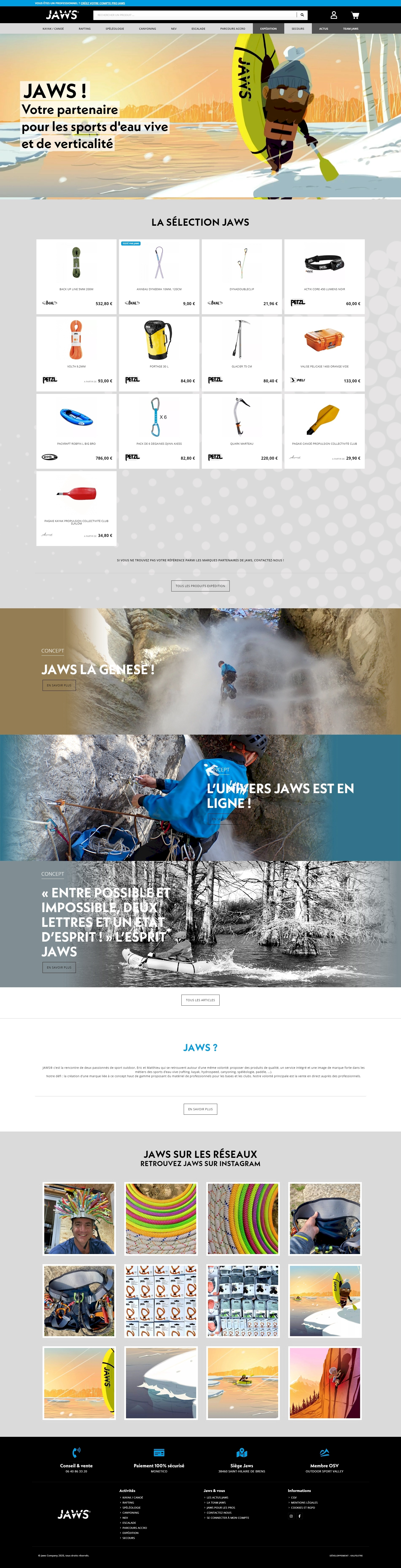 projet jaws company - kalfeutre, webdesigner lyon