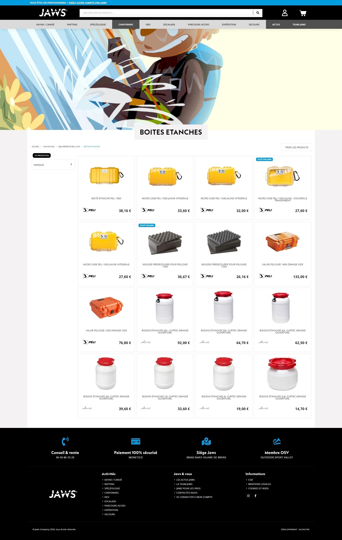 développement et intégration site jaws company