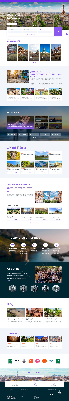 page accueil Ophorus, site webdesign kalfeutre