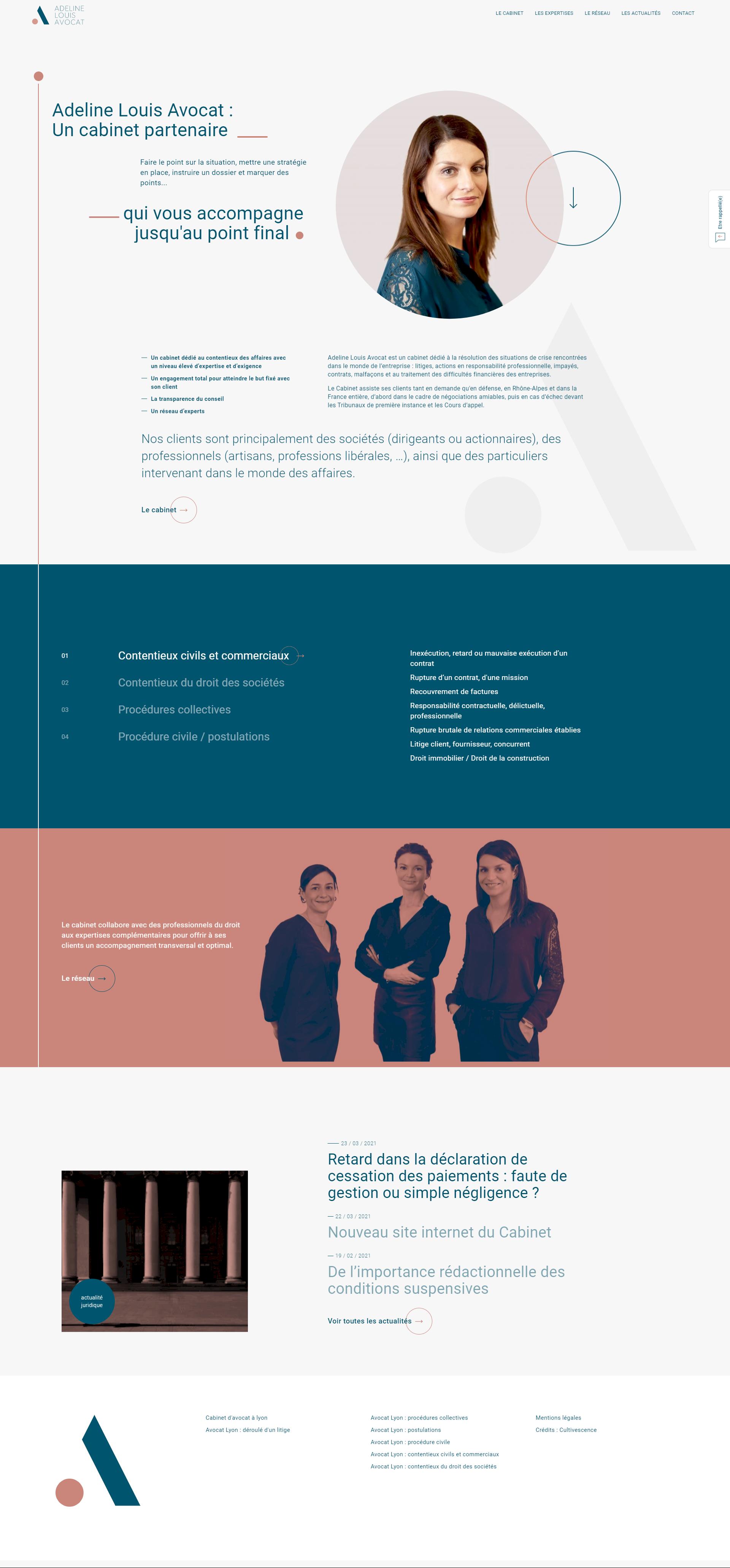 adeline louis avocat - kalfeutre lyon webdesign